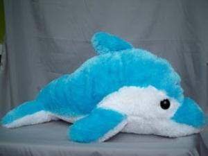 boneka lumba-lumba, biru muda